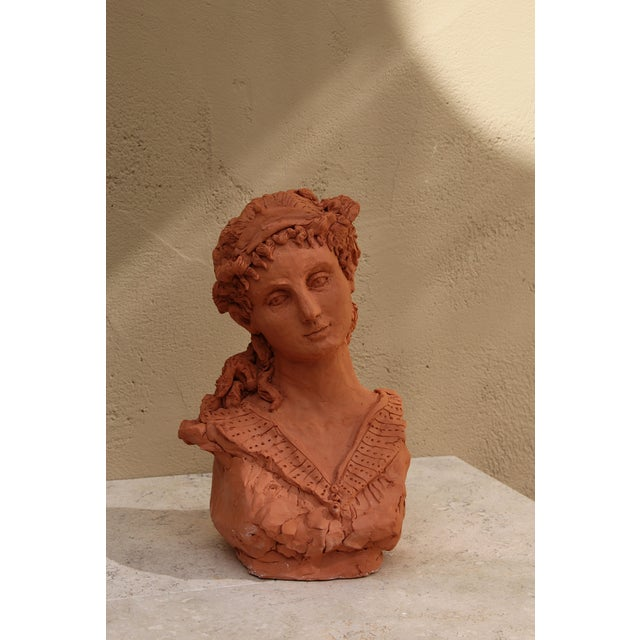 "Sarah Myers ""Woman With a Tiara"" Terracotta Sculpture For Sale In Kansas City - Image 6 of 9"