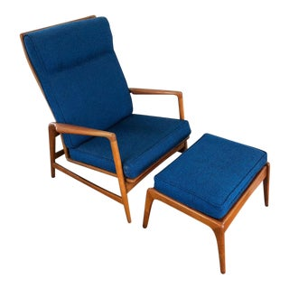Mid Century Modern Shield Chair Company of California Lounge Chair and Ottoman For Sale