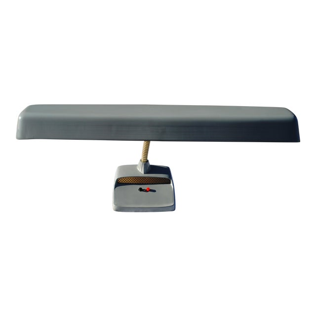 1960s Mid-Century Modern Gray Industrial Gooseneck Desk Lamp For Sale