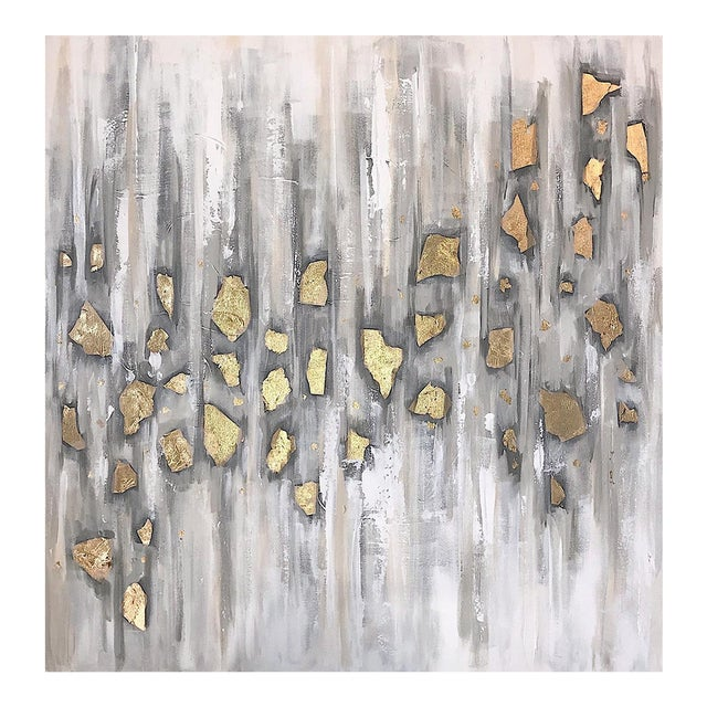 'Midas' Original Abstract Painting by Linnea Heide For Sale