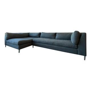 Cb2 Decker 2-Piece Asphalt Sectional Sofa Set For Sale