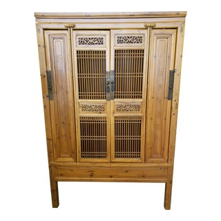 1970s Asian Antique Wooden Pantry Cabinet For Sale