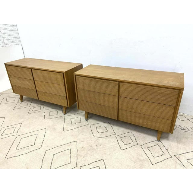 Six-Drawer Mid-Century Modern Commodes, Chests or Dresser - a Pair For Sale - Image 11 of 13