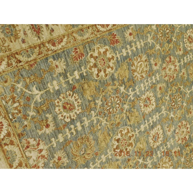 Hand Knotted Green and Yellow Afghan Rug - 6'x 9' For Sale - Image 10 of 10