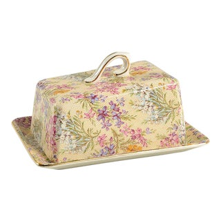 Lord Nelson Heather Chintz Cheese Dish With Lid For Sale