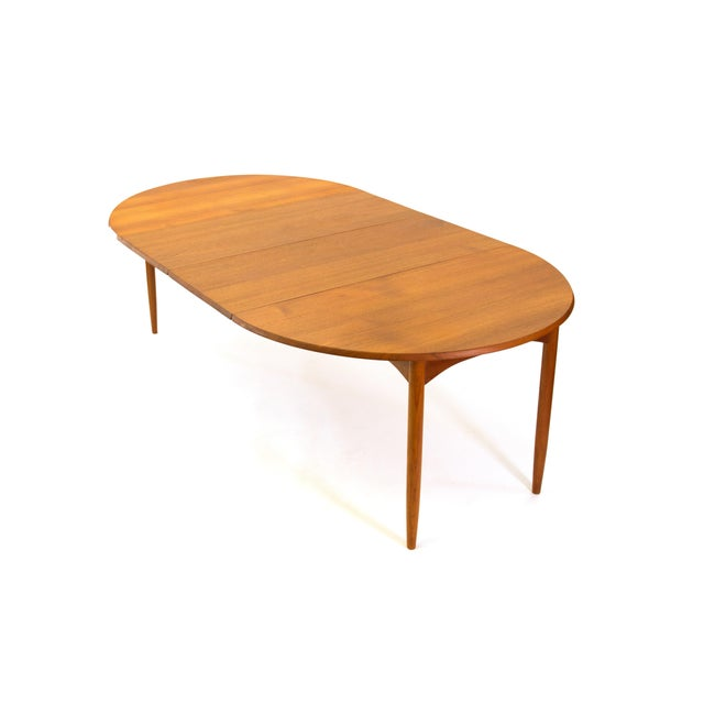 Arne Vodder Sibast - Mid- Century Solid Teak Dining Table With 2 Leaves. For Sale - Image 12 of 12