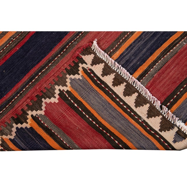 "Mid-20th Century Vintage Kilim Runner Rug 5' 2"" X 10' 10''. For Sale - Image 4 of 13"
