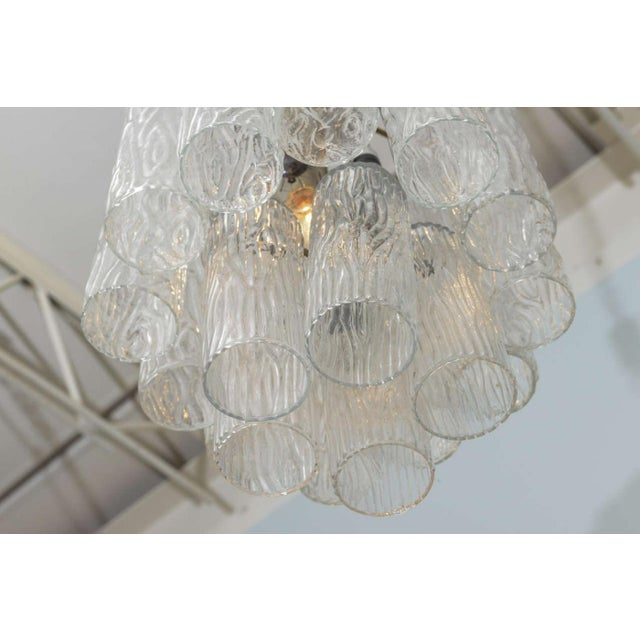 """Pair of Italian Modern Venini """"Tronchi"""" Chandeliers For Sale In Miami - Image 6 of 8"""