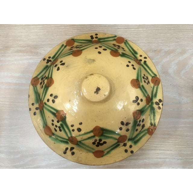 19th C. Yellow French Pottery Tureen For Sale - Image 4 of 5