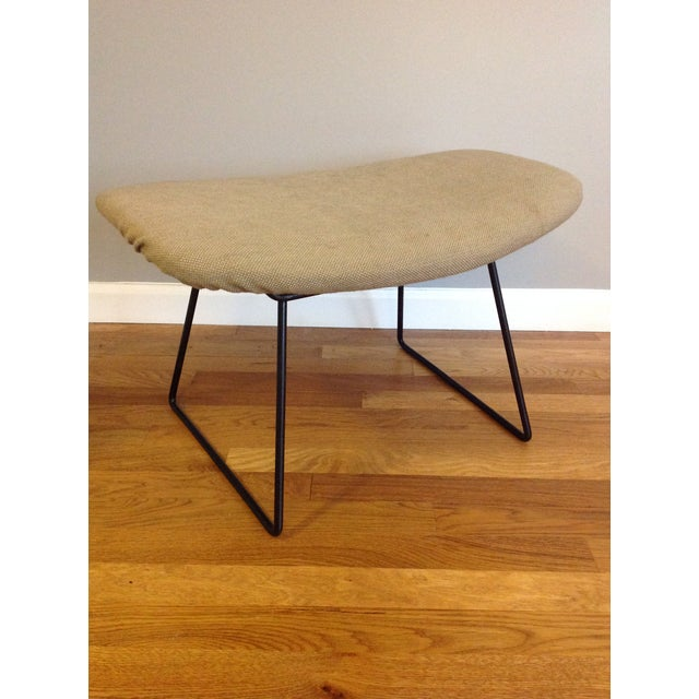Tan Harry Bertoia for Knoll Bird Chair & Ottoman For Sale - Image 8 of 10