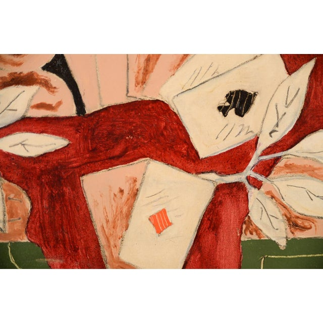 "Jean Francis Laglenne ""Poker Cards"" Still Life Oil Painting For Sale - Image 4 of 10"