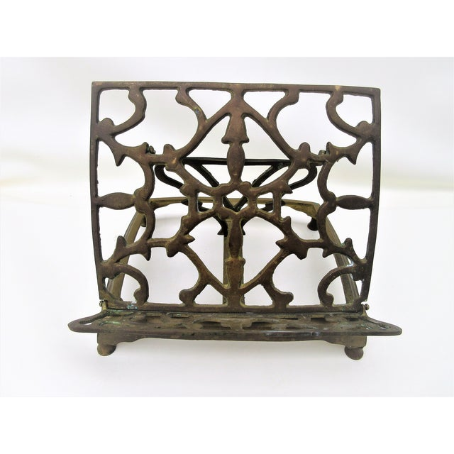 Adjustable Brass Easel Stand - Image 3 of 9