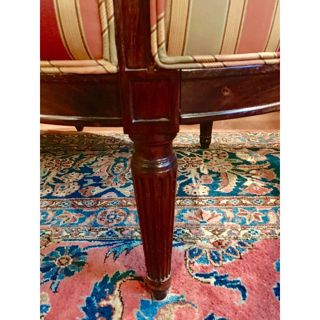 Late 19th Century 19th Century Louis XVI Canapé For Sale - Image 5 of 7
