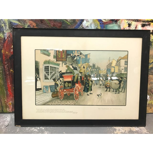 Green Vintage Mid-Century British Election Day Lithograph Print For Sale - Image 8 of 8