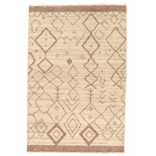 2010s Pasargad Ny Moroccan Hand-Knotted Rug - 4′ × 6′ For Sale - Image 5 of 5