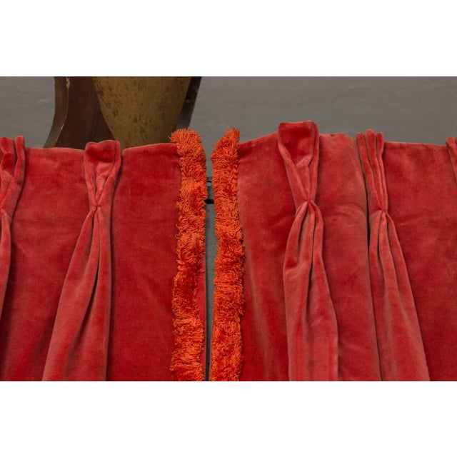 Textile Two Pairs of Paprika Color Velvet Drapes For Sale - Image 7 of 11