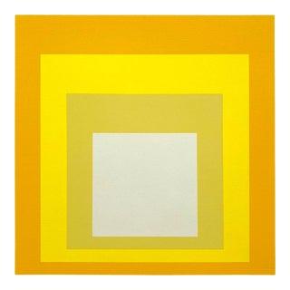"Josef Albers Vintage 1982 Modernist Fine Art Serigraph Print "" Homage to the Square, Terra Caliente "" 1968 For Sale"