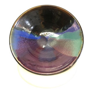 Large Multi Colored Ceramic Bowl by Potter Richard Bartlett