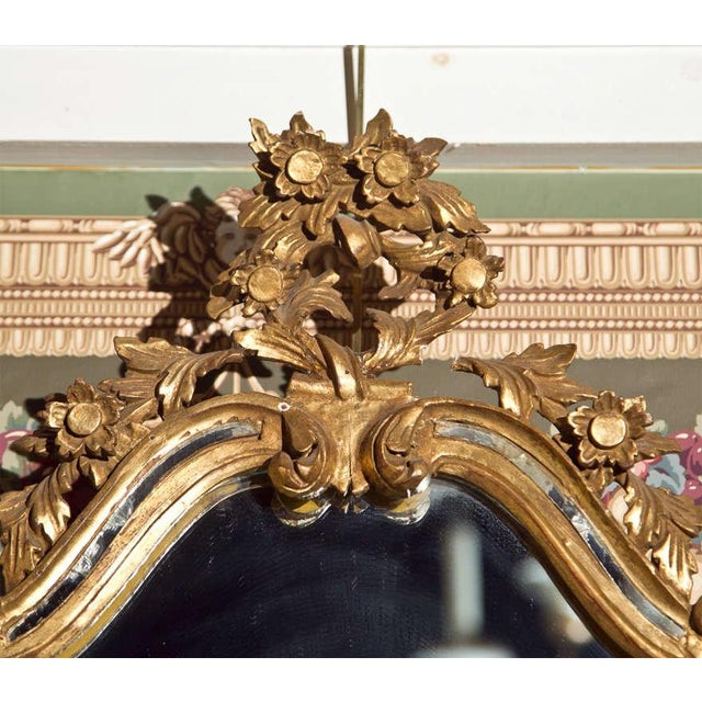 French Rococo-Style Giltwood Mirror - Image 4 of 5