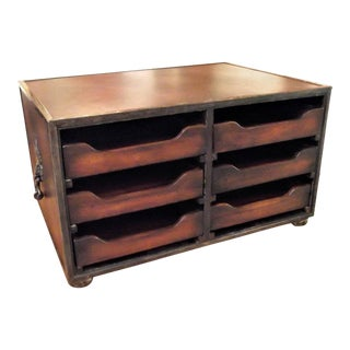 Theodore Alexander Mahogany & Leather Desk Organizer For Sale