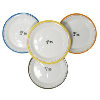 French Bistro Change Plates - Set of 4 For Sale