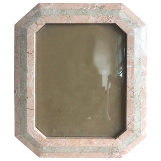 Maitland Smith Tessellated Stone and Marble Picture or Photo Frame For Sale