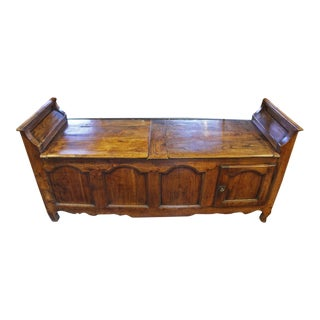 Late 18th Century Country French Storage Bench For Sale