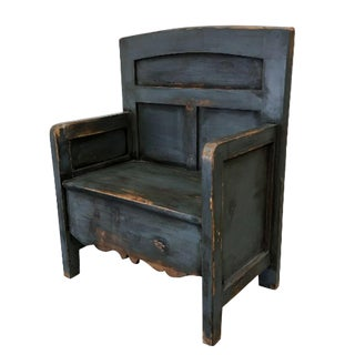 Antique Painted Bishop's Bench Chair