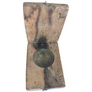19th Century, Compass and Sundial Together For Sale
