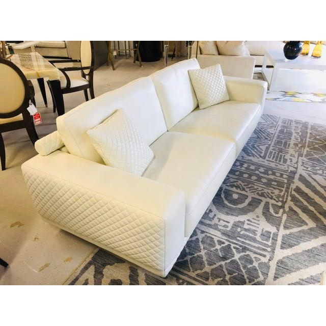 C&B Italia 21st Century C&b Italia Gurian White Leather Italian Sofa For Sale - Image 4 of 13