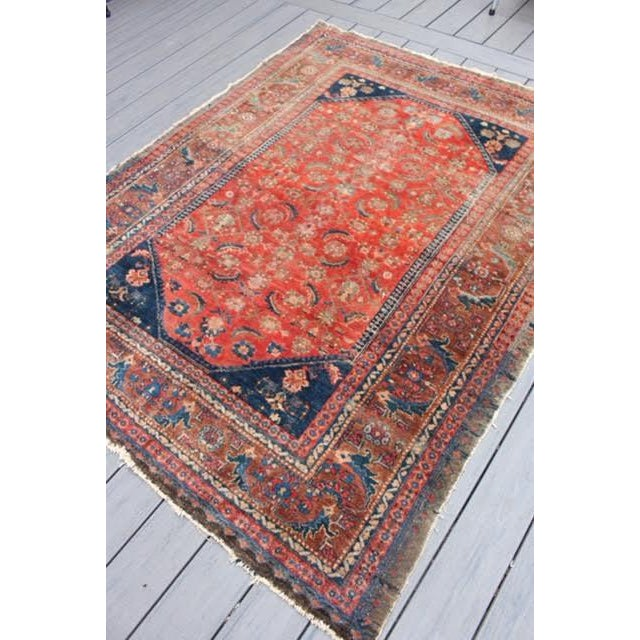 "Vintage Persian Rug - 4'11"" x 6'4"" - Image 7 of 10"