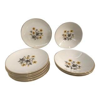 "Knowles ""Sun Light"" Dessert Plates - Set of 11"