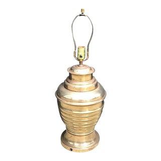 Hollywood Regency Brass Urn Lamp For Sale