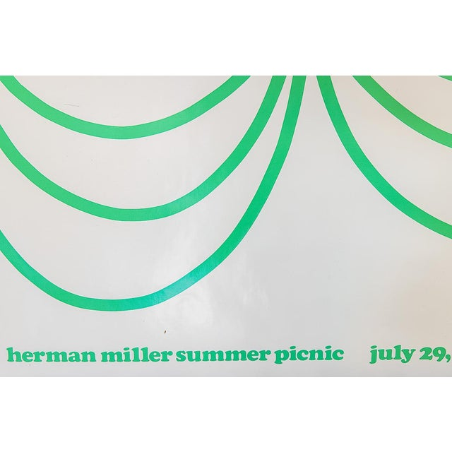 1970s Herman Miller Summer Picnic Chocolate Cake Poster For Sale - Image 5 of 7