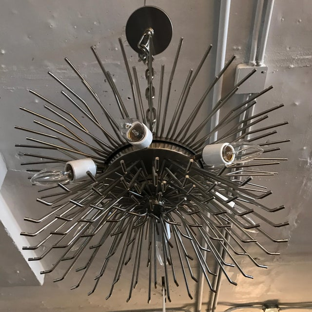 1970's VINTAGE MURANO SMOKE AND CLEAR PRISM CHANDELIER, For Sale - Image 11 of 13