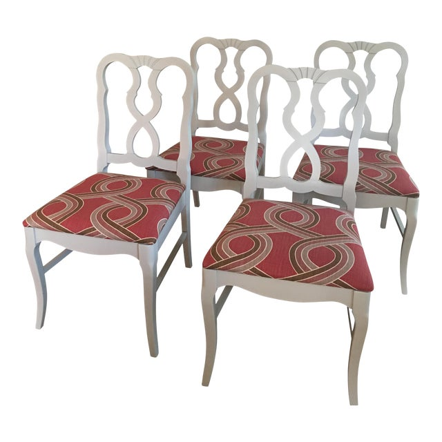 Dove Gray Ribbon Back Chairs - Set of 4 - Image 1 of 8