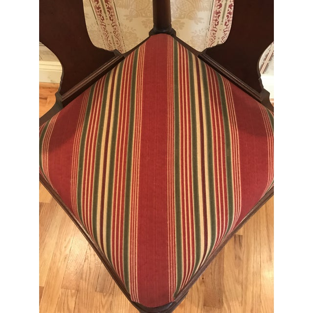 1970s Vintage Mahogany Corner Chair 1776 For Sale - Image 5 of 9