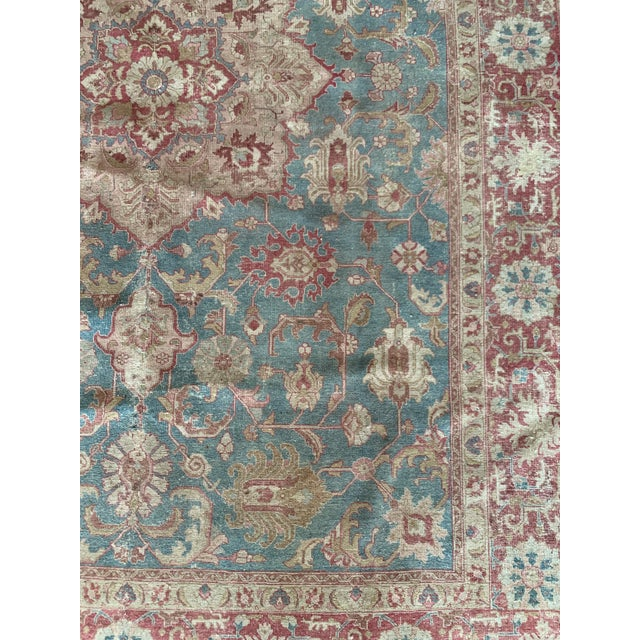 """Persian Tapriz Rug 1930s 10'8"""" X 7' 6"""" For Sale - Image 9 of 10"""