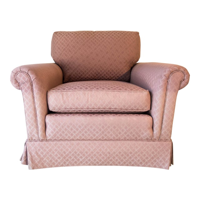 Pennsylvania House Pink Club Chair Comfortable Long Stretcher 32 x 36 x 34D Excellent For Sale