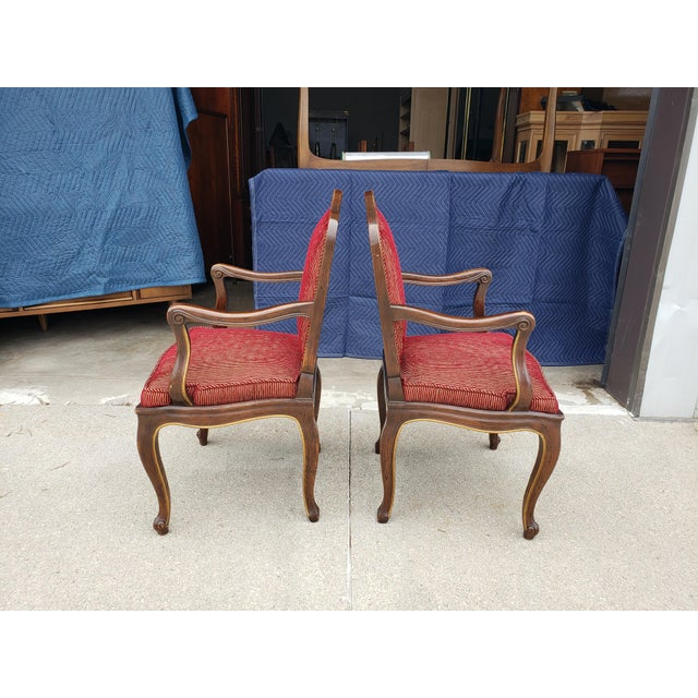 Vintage Henredon French Regency Armchairs- a Pair For Sale - Image 10 of 11