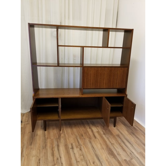 1960s Mid Century Bookcase For Sale - Image 4 of 13