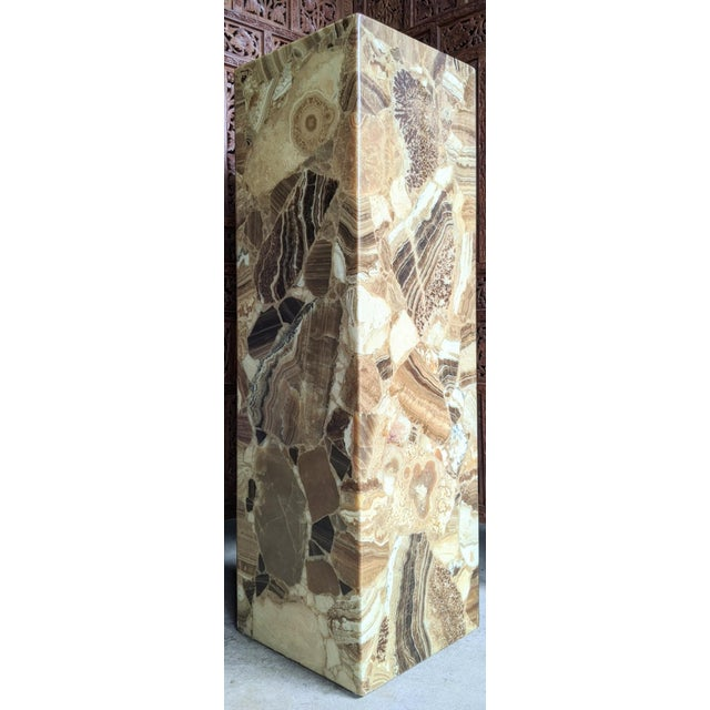 Arturo Pani for Muller of Mexico Onyx Stone Pedestal For Sale - Image 13 of 13