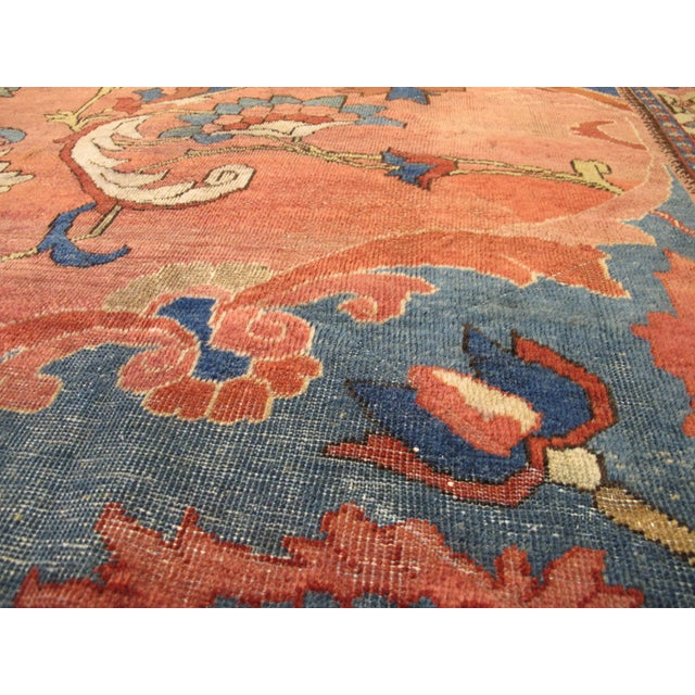 Antique Persian Mahal Carpet For Sale - Image 9 of 9