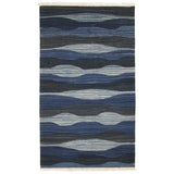 "Image of Blue Rug & Relic Yeni Kilim Flatweave Rug - 3'5"" X 6' For Sale"
