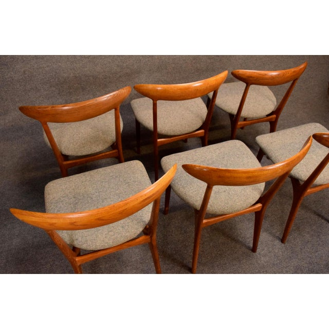 Vintage Kurt Ostervig Danish Modern Teak & Oak Dining Chairs - Set of 6 For Sale - Image 9 of 11