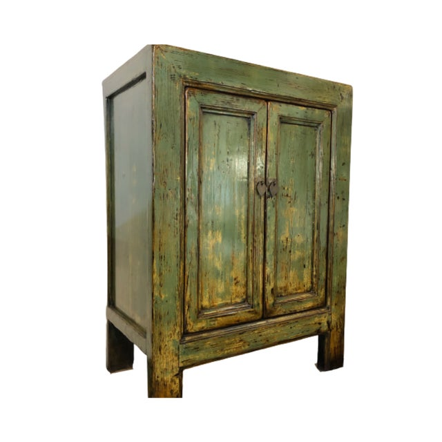 Paint Vintage Chinese Lacquered Small Buffet For Sale - Image 7 of 7