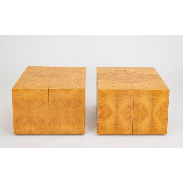 Pair of Burl Wood Side Tables or Blanket Chests For Sale - Image 13 of 13