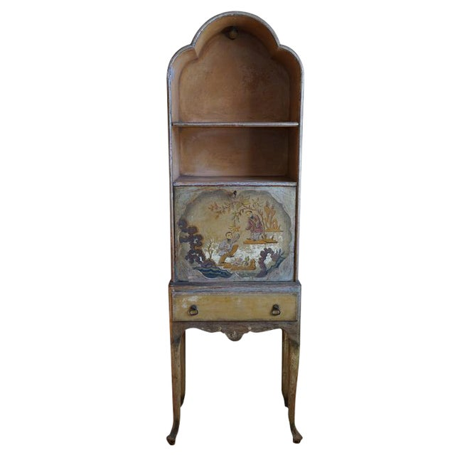 Early 20th Century English Chinoiserie Secretary For Sale