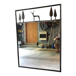 Carole Gratale Giacometti-Inspired Stag Mirror For Sale