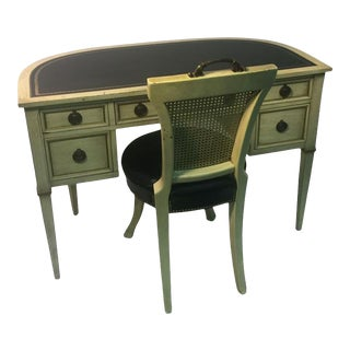 Hollywood Regency Desk and Chair For Sale